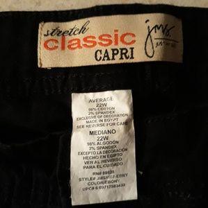 "Just My Size Pants - Black classic capris ""just my size"""